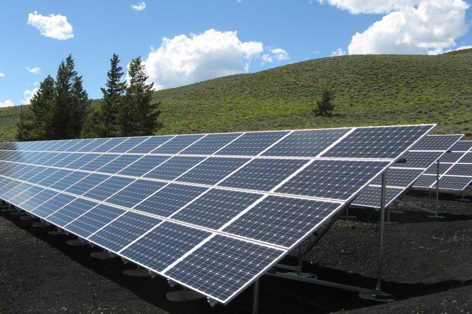 A solar panel farm